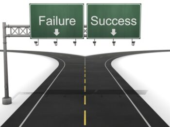 Success or Failure Fork in the Road for The Difference Between Success and Failure is More than Talent by Joanne Zippel for Zip Creative